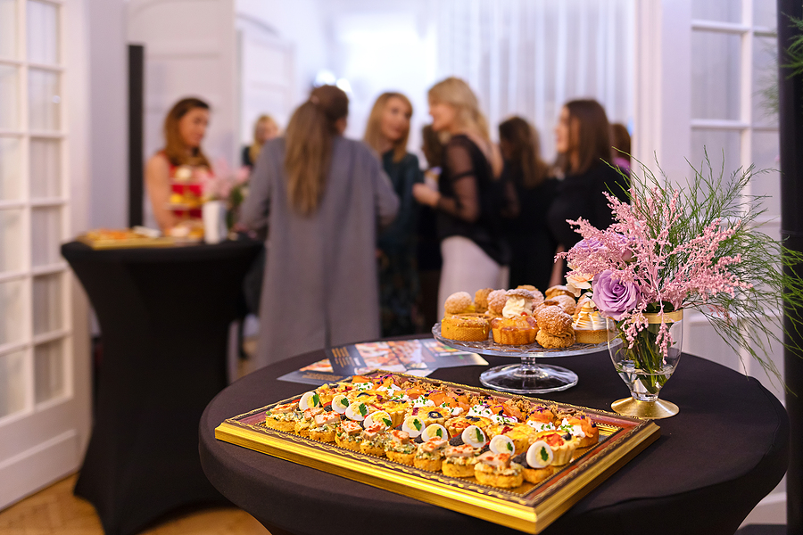 Delicious snacks served in a corporate catering